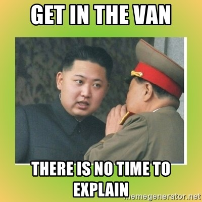 kim joung - get in the van there is no time to explain