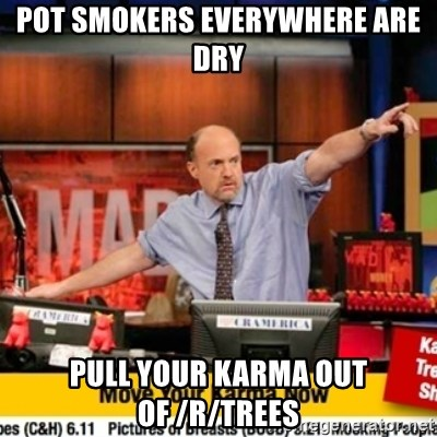 Karma Cramer - Pot smokers everywhere are dry pull your karma out of /r/trees