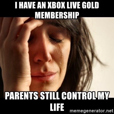 crying girl sad - i have an xbox live gold membership parents still control my life