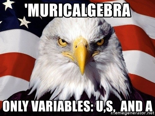 American Pride Eagle - 'muricalgebra only variables: U,S,  and A