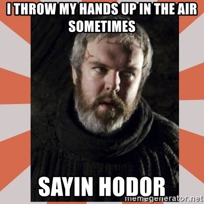 Hodor - I THROW MY HANDS UP IN THE AIR SOMETIMES SAYIN HODOR