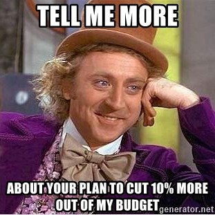 Willy Wonka - Tell me more about your plan to cut 10% more out of my budget