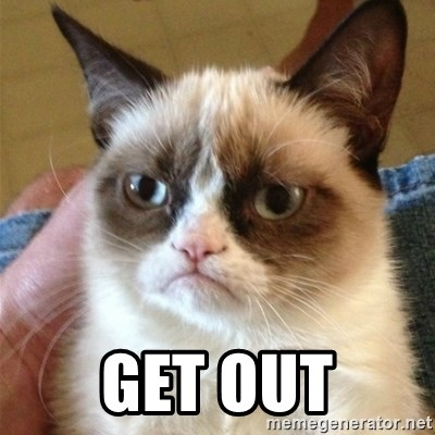 Grumpy Cat  -  Get out