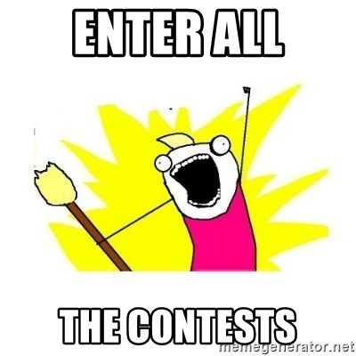 clean all the things blank template - enter all the contests