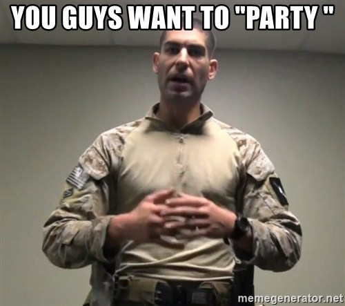 """GMRPLS - you guys want to """"party """""""