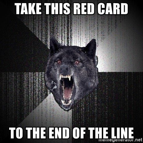 Insanity Wolf - TAKE THIS RED CARD TO THE END OF THE LINE