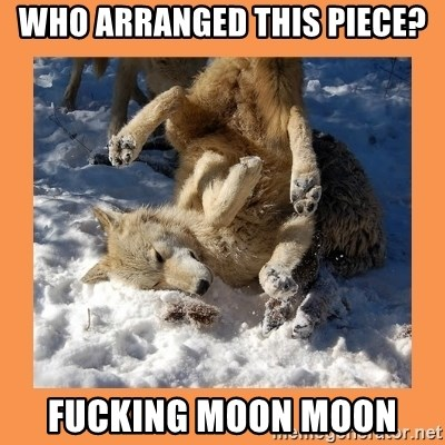Moon Moon - Who arranged this piece? Fucking moon moon
