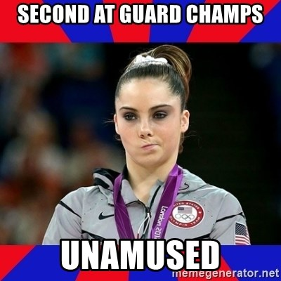 Mckayla Maroney Does Not Approve - Second at Guard Champs Unamused