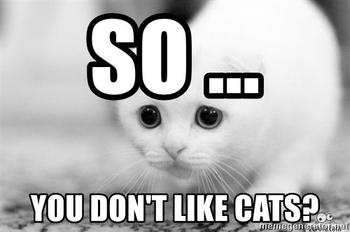 Sadcat - So ... you don't like cats?