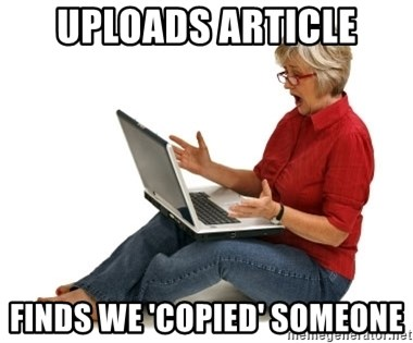 SHOCKED MOM! - Uploads article finds we 'copied' someone