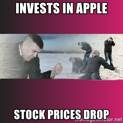 Dramatic Dmitri - Invests in apple stock prices drop