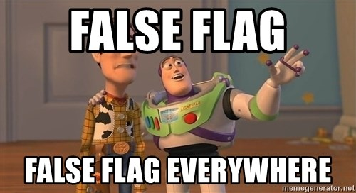 ORIGINAL TOY STORY - False Flag False Flag Everywhere