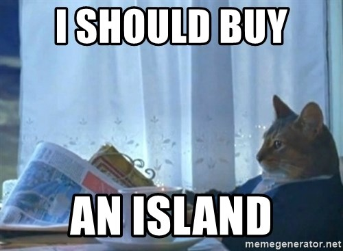 Sophisticated Cat - I SHOULD BUY  AN ISLAND