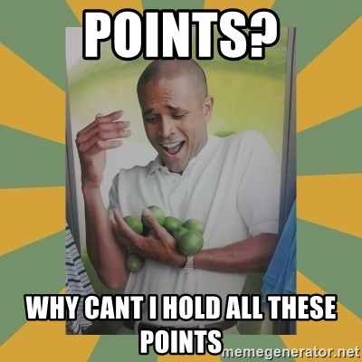 Why can't I hold all these limes - points? why cant i hold all these points