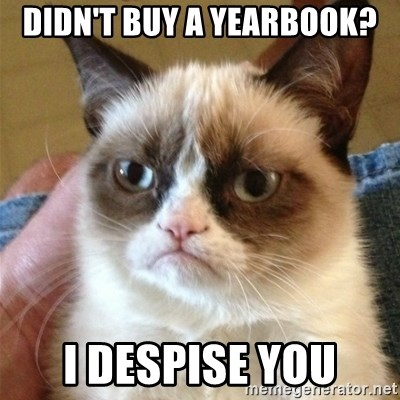 Grumpy Cat  - DIDN'T BUY A YEARBOOK? I DESPISE YOU