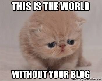 Super Sad Cat - This is the world without your blog