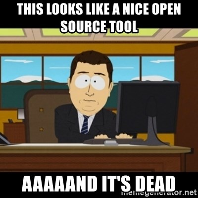 and they're gone - This looks like a nice Open source tool aaaaand it's dead