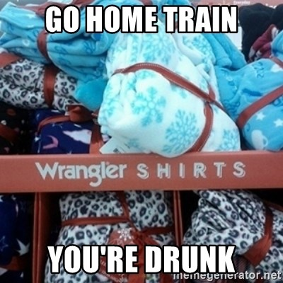 GO HOME--You're Drunk  - Go home train You're drunk