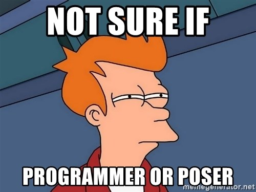 Futurama Fry - NOT SURE IF PROGRAMMER OR POSER