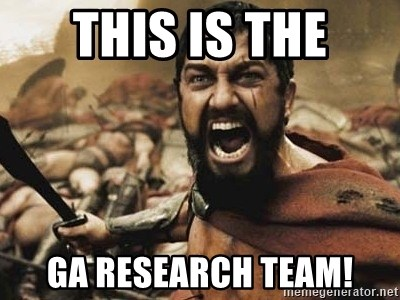 300 - this is the GA research team!