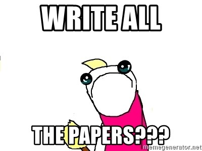 X ALL THE THINGS - Write All The PaperS???