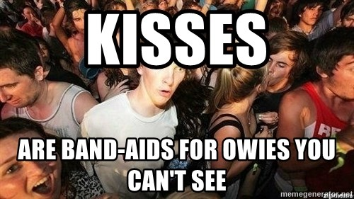 -Sudden Clarity Clarence - Kisses are band-aids for owies you can't see