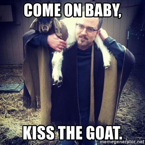 paulusdan - come on baby, kiss the goat.