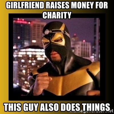 Phoenix Jones - GIRLFRIEND RAISES MONEY FOR CHARITY this guy also does things