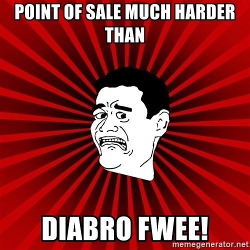 Afraid Yao Ming trollface - POINT OF SALE MUCH HARDER THAN DIABRO FWEE!