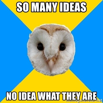Bipolar Owl - so many ideas no idea what they are