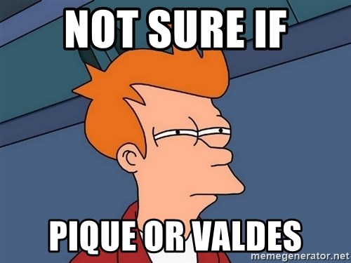 Futurama Fry - Not sure if pique or valdes