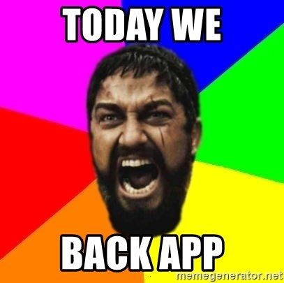 sparta - Today we BACK APP