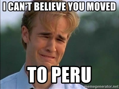 James Van Der Beek - I can't believe you moved To peru