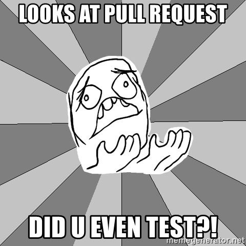 Whyyy??? - Looks at pull request did u even test?!