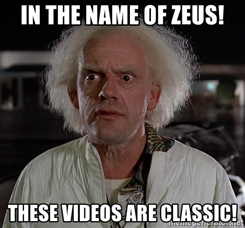 Back To The Future Doctor - IN THE NAME OF ZEUS! THESE VIDEOS ARE CLASSIC!