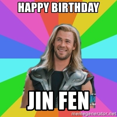 Overly Accepting Thor - Happy Birthday Jin fen