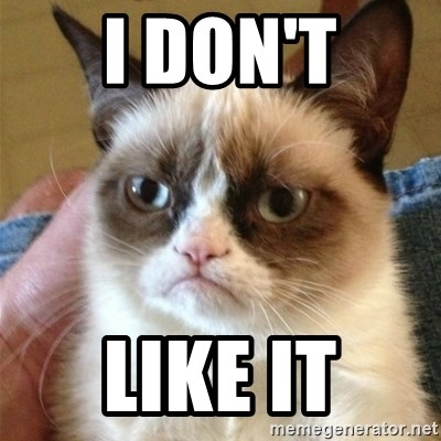 Grumpy Cat  - i don't like it