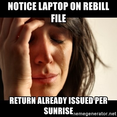 crying girl sad - notice laptop on rebill file return already issued per sunrise