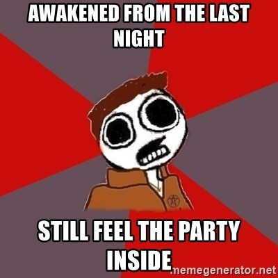 superami crazy - awakened from the last night Still feel the party inside