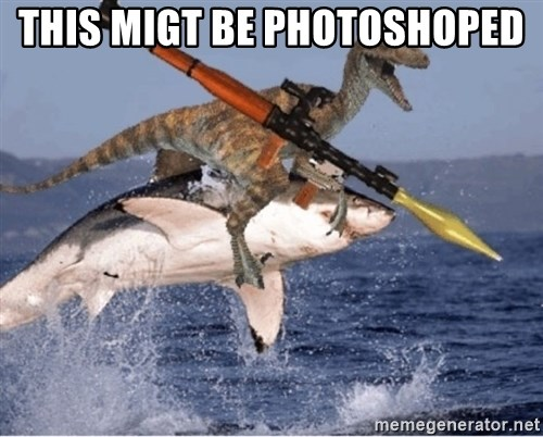 raptor shark - This migt be Photoshoped