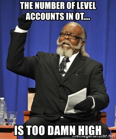 Rent Is Too Damn High - The number of level accounts in ot.... is too damn high
