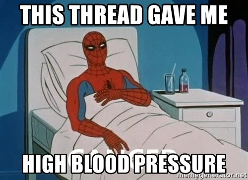 Cancer Spiderman - This Thread Gave me  High Blood Pressure