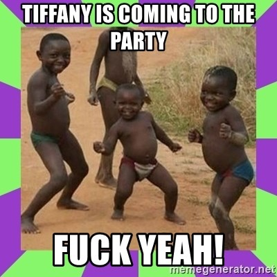 african kids dancing - tiffany is coming to the party fuck yeah!