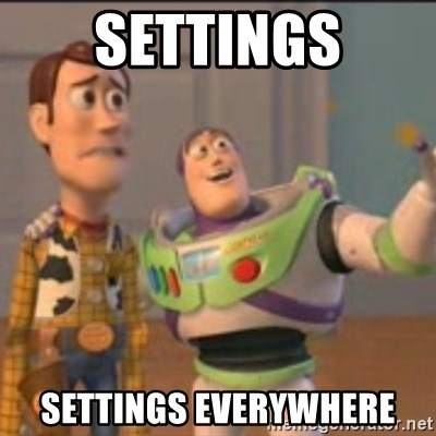 Buzz - SETTINGS SETTINGS EVERYWHERE