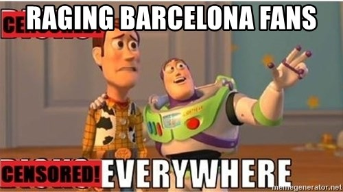 Toy Story Everywhere - RagiNg Barcelona fans