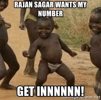 Success African Kid - Rajan sagar wants my number Get innnnnn!