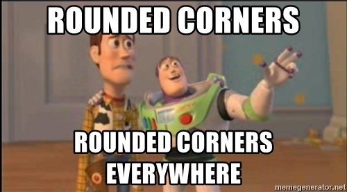 X, X Everywhere  - Rounded Corners Rounded Corners Everywhere