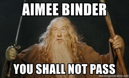 You shall not pass - aimee binder you shall not pass