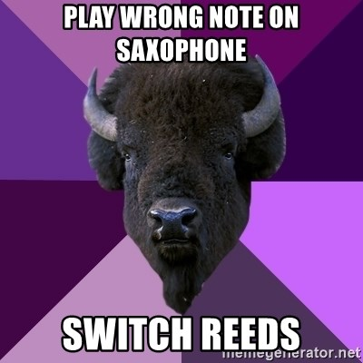 Fuck Yeah Band Buffalo - Play wrong note on saxophone switch reeds
