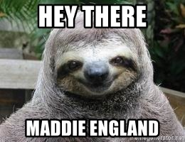 Sexual Sloth - Hey there Maddie England
